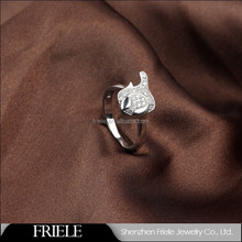 Friele Design tadpole shape animal ring,925 silver ring