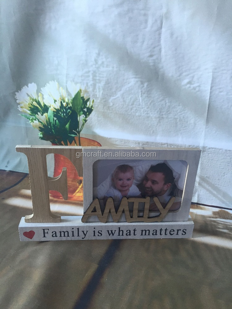 Family is what matters,Home Decor Wooden photo frame