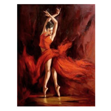 Canvas Handmade Abstract People Dance Oil Painting