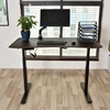 Own safe function 3 stage 2 motor electric height adjustable office table sit stand desk
