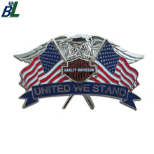 Custom Nickel Plating Eagle Wing Cross American Flag Lapel Pin Badge with Enamel