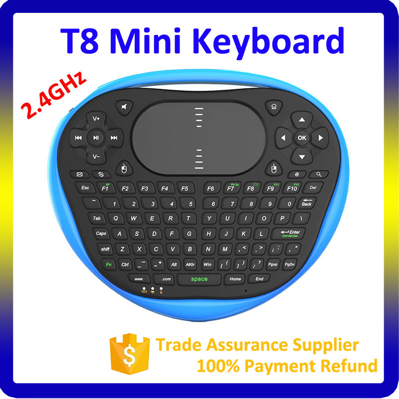 New Hot Selling universal remote control ABS material 2.4G bluetooth wireless T8 air mouse backlit keyboard
