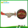 Winho airplane metal lapel pin