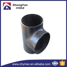 carbon steel pipe fitting ASTM A234 WPB amse ansi B16.9 Butt welded BW equal tee 90 degree tee