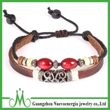 Tribal Handmade Jewelry Multilayer Rope Leather Bracelet Fashion Accessory for Men Women