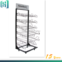 New supermarket store carpet rug sample display rack HSX-S0012