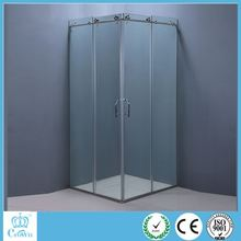 high quality 8mm thickness glass and stainless steel parts bathroom pod/shower room/shower cubicles