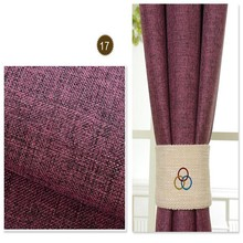 2014 Dubai curtain fabric designs plain polyester blackout curtain panel