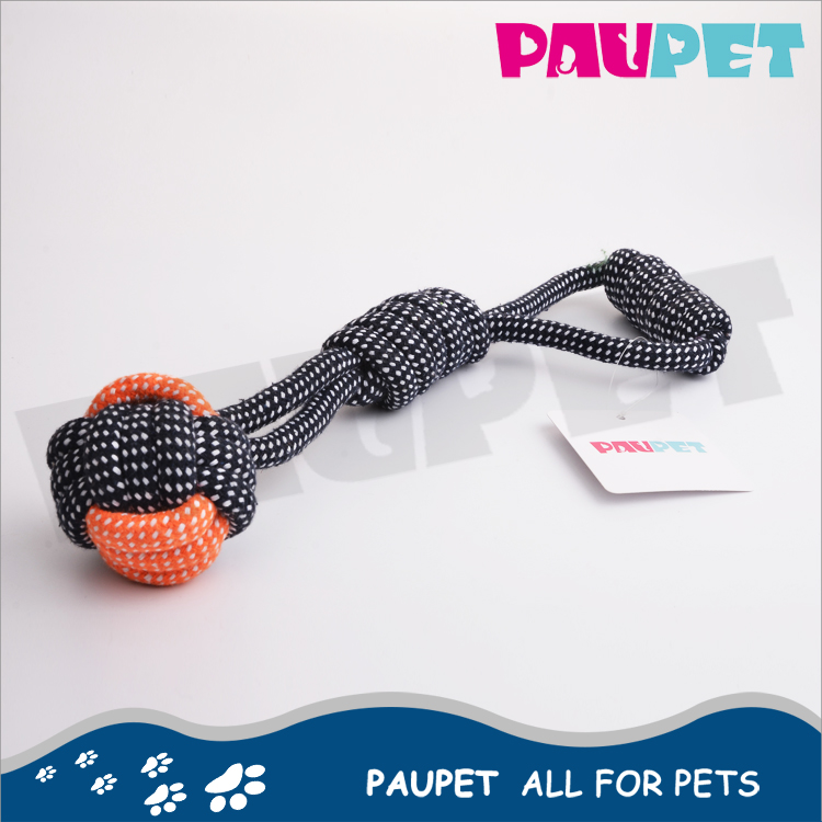 Hot selling chew toys rope for dog fun best pet food cotton knot rope toy