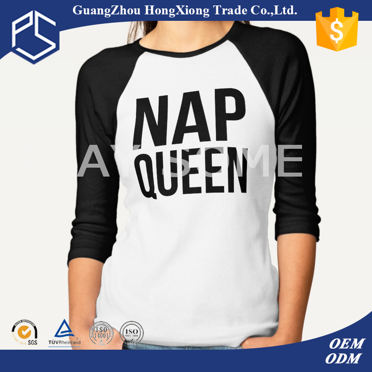 China good selling women long sleeve t-shirt design class