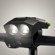 ShanRen Raptor mountain bicycle 4 mode led bike front light with cycle computer