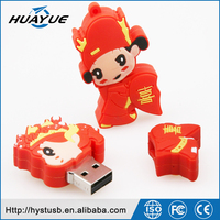 New product groom and bride cartoon image silicon high quality USB Flash Drive for celebrating happy day