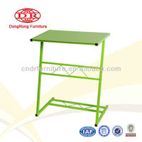 metal frame tempered glass top computer desk student desk