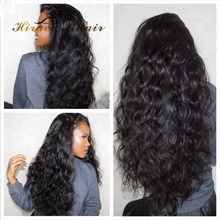 Unprocessed Virgin Brazilian Human hair 130% 150% 180% water wave Lace front wig Full lace wig