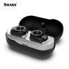 Shaba Handsfree oem mp3 player BT Earbuds Super Mini Waterproof Stereo earphones with a triangle logo