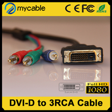 dvi to 3 rca male to male cable audio video adapter cable dvi rgbn cable