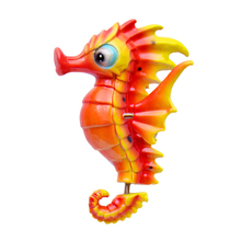 plastic cute seahorse fridge magnet for different countries