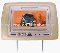 7inch led wide screen car headrest dvd player