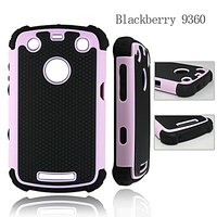 SOFT GEL IMPACT HARD DEFENDER COMBO HYBRID ARMOR CASE COVER FOR BLACKBERRY CURVE 9360