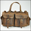 Genuine leather travel bag luggage duffle bags