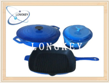 SGS certified blue Red Enamel cast iron cookware set