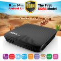 1ST DDR4 TV box android 7.1 OS 2g ram 16g flash memory 5G wifi bluetooth 4.0 android tv box m8s