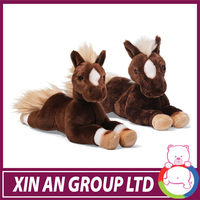 hot sale 2014 plush horse stuffed animals with ISO 9000 passed factory