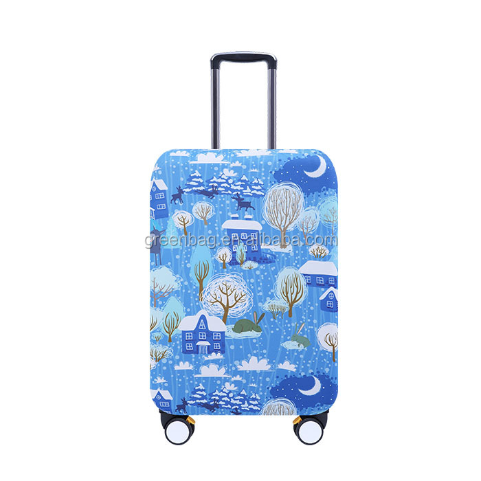 BSCI Fashional full printing luggage cover travel bag cover