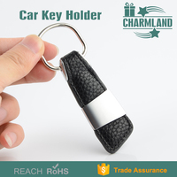 car custom leather key chain parts ring metal metal wholesale