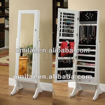 2014 best high quality dressing mirror jewelry cabinet