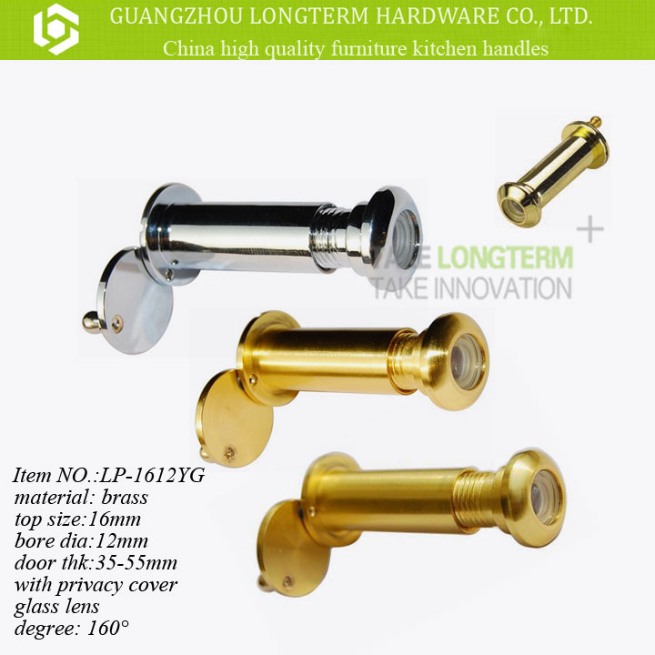 High Quality 160 degree Brass Door Viewer bore dia 16mm