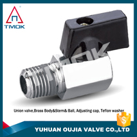"China Manufacture High Performance 1/4"" Female x 1/8"" Male NPT Mini Brass Ball Valve Full Port 600 WOG Lever Handle"