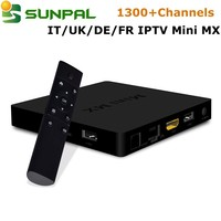 iptv set top box mini mx 2gb 16gb with one year IUDTV ip tv Account 1300+ channels dvb-c iptv streaming server