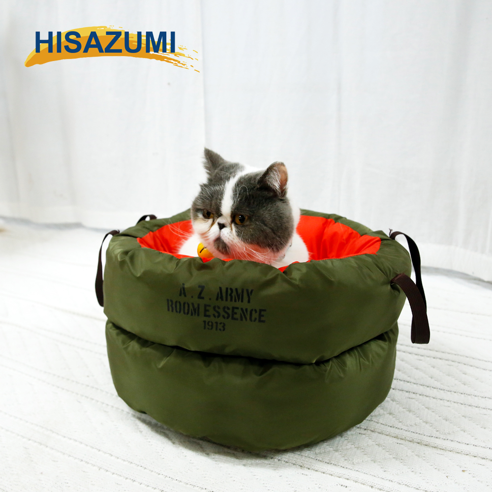 Wholesale luxury pet dog cat bed, memory fabric pet cat house, pet accessory