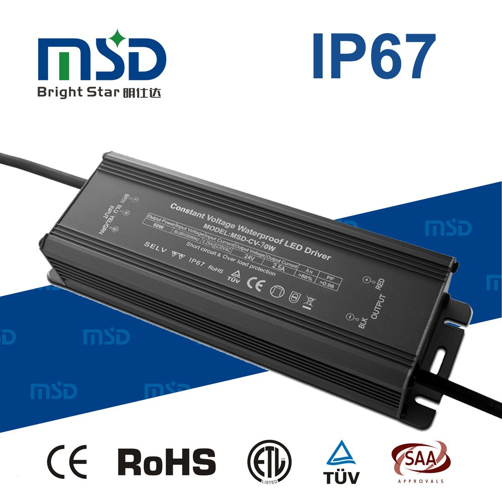 CE RoHS constant voltage Waterproof LED Driver 12V 24V 36V 1.95A 2.92A Low Voltage Power Supply 70W