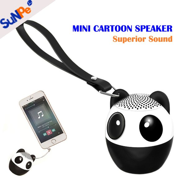 Creative Mini Cute Panda Cartoon Style Bluetooth Speaker Subwoofers with Selfie Function