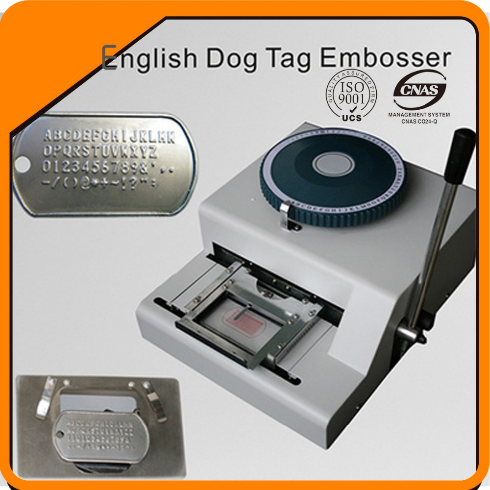new manual military dog tag embosser machine with 52 characters, dog tag embossing machine