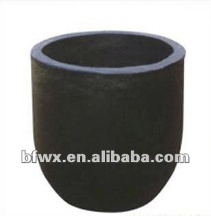 graphite crucible for melting meta,l carbon crucible