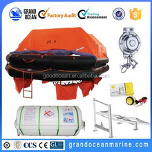 EC certificate Throw Over Type Inflatable Life Raft Fiji hot selling