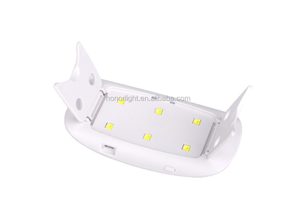 factory for sale portable 6 w 6 leds best uv lamp for gel nails easy carry hot selling