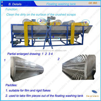waste plastic film recycling line/film washing line/ film washing machine