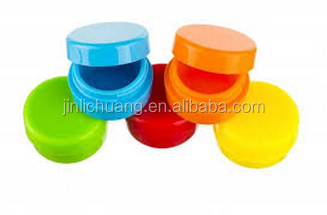 100% silicone small round non -stick wax containers jar 5ml 9ml 10ml 11ml capacity