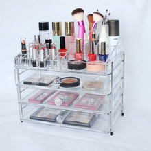 High Demand Acrylic Acrylic Makeup Organizer Clear Box Cosmetic Cases Display