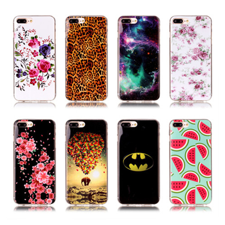 Capa Para Custom Printed Personalized DIY Photos Painting Soft TPU Protective Flower Phone Cases Cover for iPhone 7 7 Plus