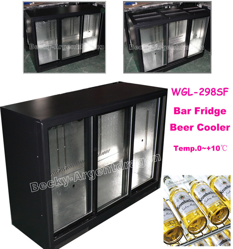 Outdoor freezing ice storage bin with slant doors and dual temperature -5/-12degree C