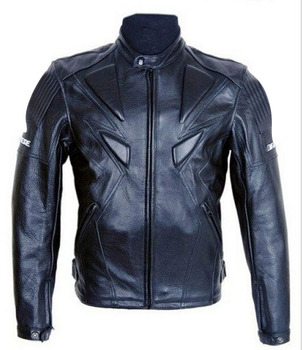 Genuine leather racing suit for motorcycle and bicycle