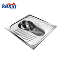 Stainless Steel Security Squat Toilet