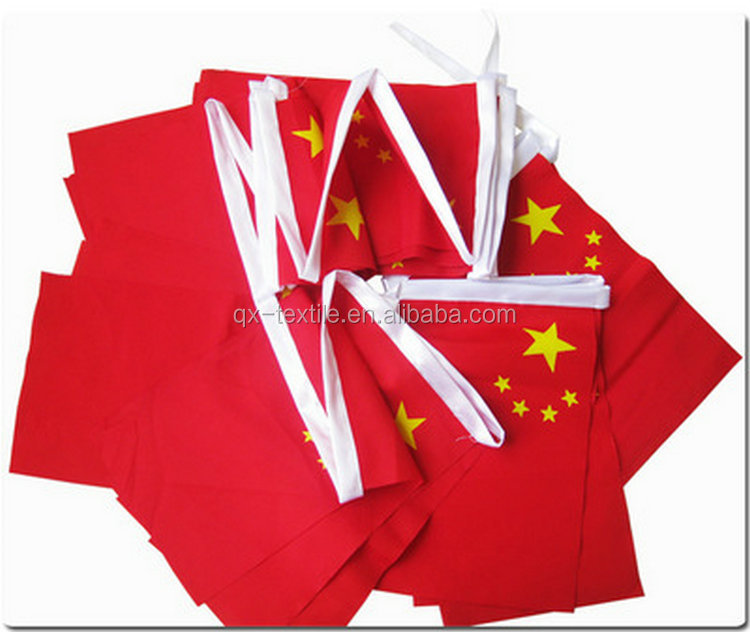 100D Polyester Colored Triangle Bunting Pennant String Flag for Christmas Party Decoration