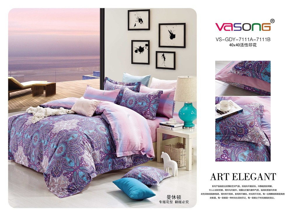 2015 fashion design single size satin cotton comforters and bedspreads