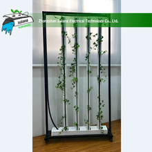 880*230*2200 mm Vertical Zipper PVC Channels NFT Hydroponics Growing System or soilless Cultivation for Greenhouse(single whole)